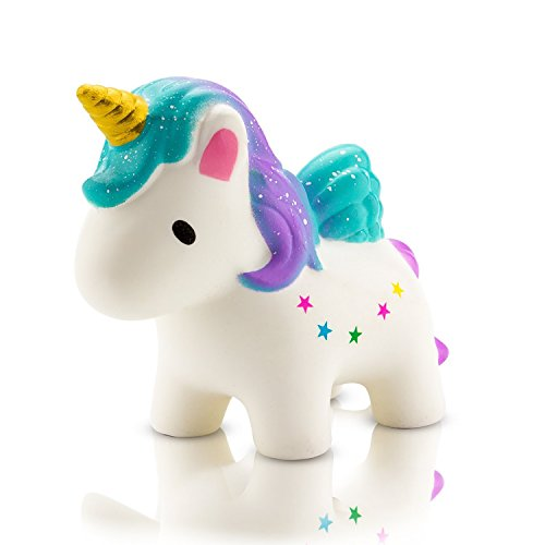 BeYumi Slow Rising Toy, Kawaii Star Unicorn Squishy Toy, Cream Scented Simulation Cute Animals Toys Gift for Kids Lovely Stress Relief Toy