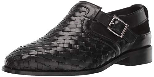 STACY ADAMS Men's Caliban Woven Buckle Fisherman Sandal, Black 12 M US