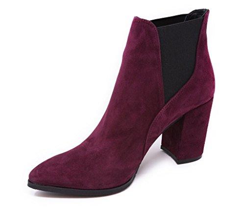 BOBERCK Nina Collection Women's Suede Chelsea Ankle Boot Burg AN3jsJcQ