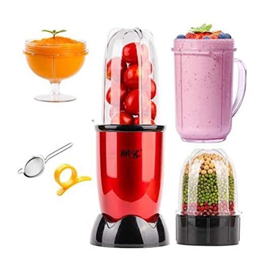 Electric Juicer Mini Multi Automatic Blender Juicer Machine Mini Juicer red 4 cups 3 blade 220V