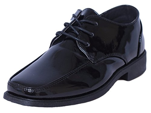 - Josmo Boys Lace-Up Dress Shoes, Black Patent Size 6'
