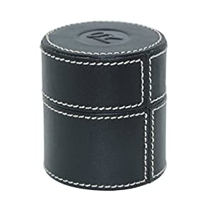 SWISS REIMAGINED Genuine Leather Jewelry Pill Box Case for Storage - Gift boxed
