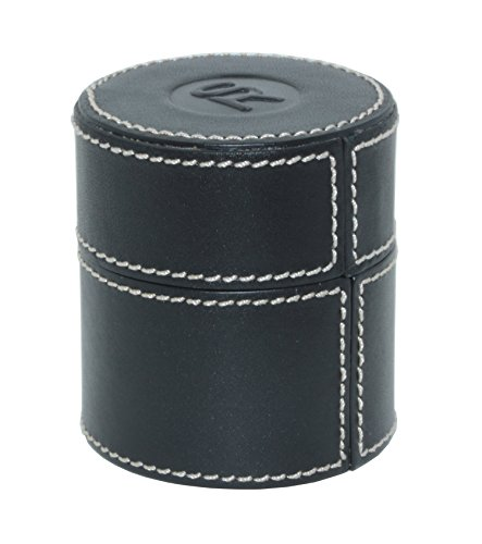 SWISS REIMAGINED Cylindrical Loupe Holder Leather Jewellery Storage Travel Case