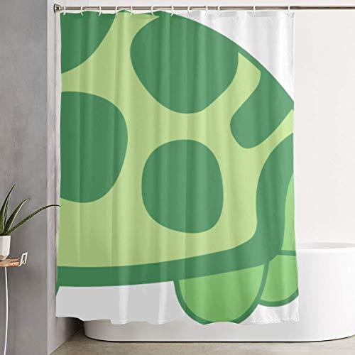 ManSanTuBaZhu Cute Turtle Cat Clipart Unique Waterproof Bath Shower Curtain,Polyester Fabric Bathroom Curtain Decor Set with Hooks 60