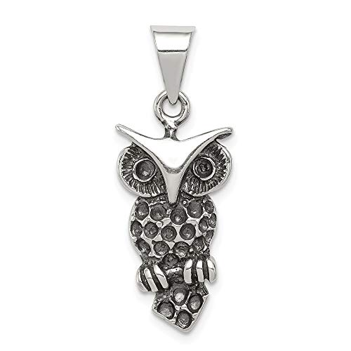 Roy Rose Jewelry Sterling Silver Antiqued Owl Charm