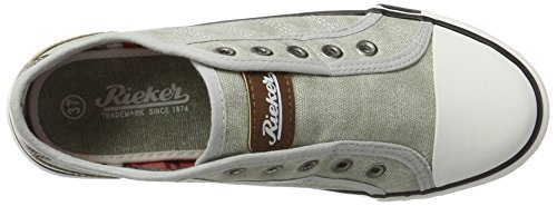 M2270 Top Shark Sneakers 40 Grey Women's Brown Low Rieker 5xAzOgqtn