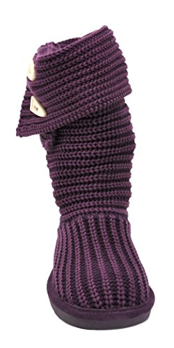 Calf Knit Plum Boot Bearpaw Mid Women's Tall Wool qT77IO
