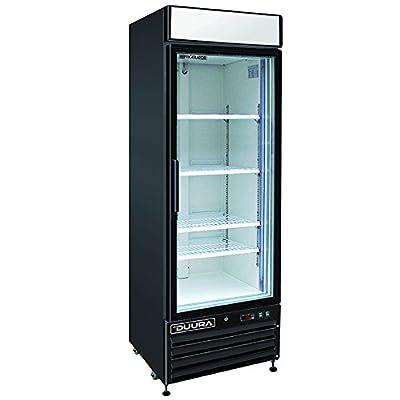 DUURA DGMB23R X-Series Glass Door Merchandiser Refrigerator Black, Black