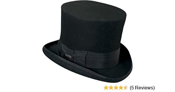 c2247c4bd0a141 Victorian Classico Scala Mad Hatter 100% Wool Top Hat Black LARGE at Amazon  Men's Clothing store: Costume Headwear And Hats