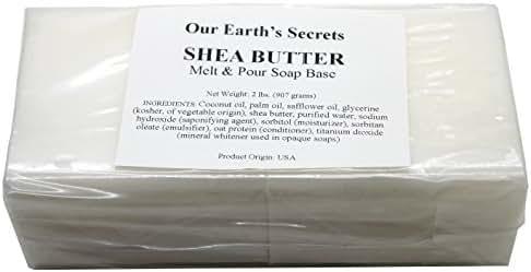 Shea Butter - 2 Pound Melt and Pour Soap Base - Our Earth's Secrets