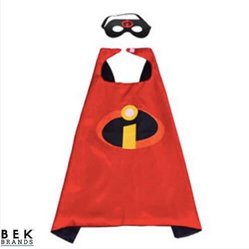 Bek Brands Childrens Superhero Costume Cape and Mask Sets -