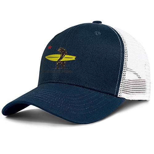 TUICAQJ Runing Caps for Men/Women California Bear Surf Adjustable Fashion Mesh Hats Dark_Blue]()