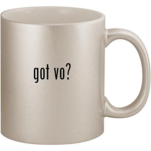got vo? - 11oz Ceramic Coffee Mug Cup, Silver