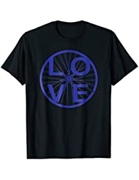 Cycling Love T-shirt Bike Wheel Series - Blue, Distressed