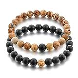 Hot And Bold Couple & Combo Certified Natural Stones Reiki/Yoga Healing Stylish Distance Bracelet. Fashion Jewellery