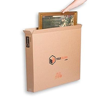 (x5) Cajas para cuadros, espejos y televisión. Para envíos, de Cartón
