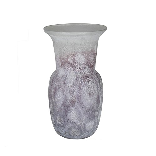 Frosted Essential Vases Glass (Essential Décor Entrada Collection Glass Vase, 12.6 by 5.9-Inch, White)