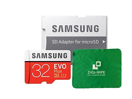 TALLA 32 gb. Micro-SD Evo Plus - Tarjeta de memoria para Samsung S7, S7+, S8, S8+, S9, S9 Plus, incluye paño de limpieza de microfibra
