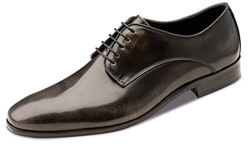 Wilvorst - zapatos con cordones de cuero hombre gris - gris