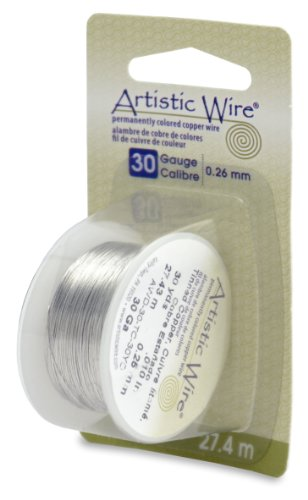 - Artistic Wire Beadalon, 30 Gauge, Tinned Copper, 30 yd (27.4 m) Craft Wire,