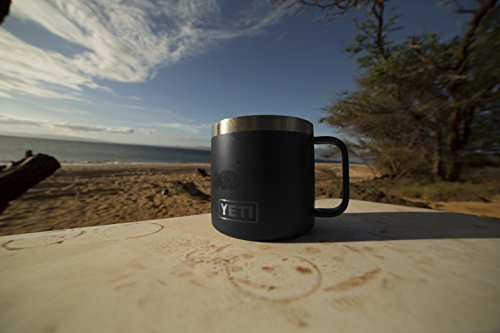 YETI Rambler 14 oz Stainless material machine Insulated Mug by signifies of  cover Black Commuter and leisure Mugs