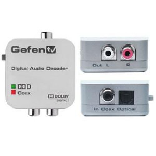 Gefen GTV-DD-2-AA COAXIAL/OPTICAL DIGITAL AUDIO CONVERTER - WHITE by Gefen