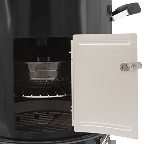 Dyna-Glo DGX376BCS-D  Compact Charcoal Bullet Smoker - High Gloss Black by Dyna-Glo (Image #5)