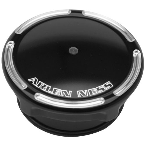 Arlen Ness 70-304 Black Billet Gas Cap/LED Fuel Gauge Cap