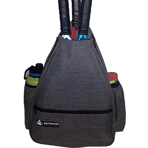 Pyramid Premium Tennis Racquet Backpack – Holds Up to 3 Tennis Rackets | Backpack with Shoe Compartment | Tennis Racquet Bag | Tennis Racket Holder for Men/Tennis Racket Holder for Women
