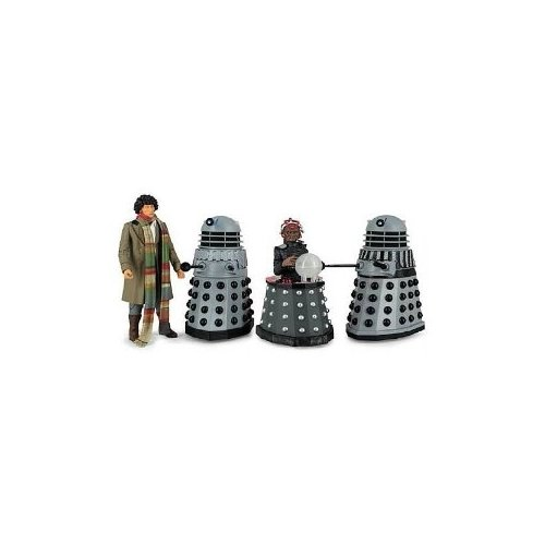 Doctor Who Destiny of the Daleks Fourth Doctor - Davros - 2 Daleks Action Figure 4-pack