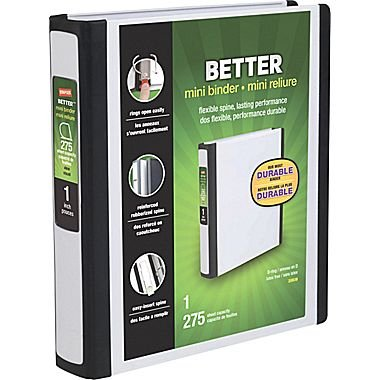 staples better mini binder 1 white amazon co uk office products