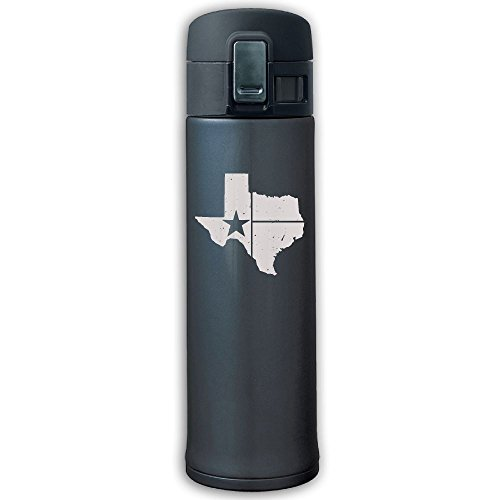 Distressed White Texas State Flag Vacuum Insulated Stainless