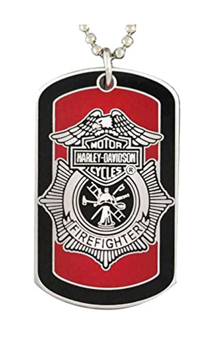 Harley Davidson Firefighter Necklace KeyChain 8002718