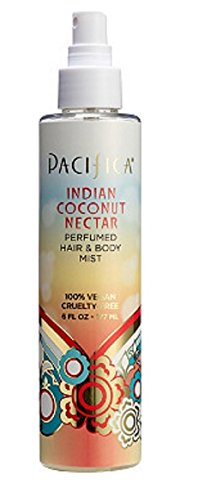 PACIFICA Indian Coconut Nectar Hair & Body Mist 6oz, pack of (Nectar Mist)