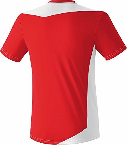 Rosso nbsp;– Erima Glasgow bianco Adulti nbsp;maglietta wxIdvzIa