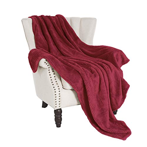 (Exclusivo Mezcla Waffle Flannel Fleece Velvet Plush Throw Blanket - 50