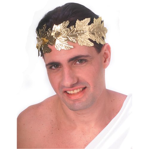 Gold Costume Men (Rubie's Costume Men's Novelty Gold Foil Roman Wreath, Gold, One Size)
