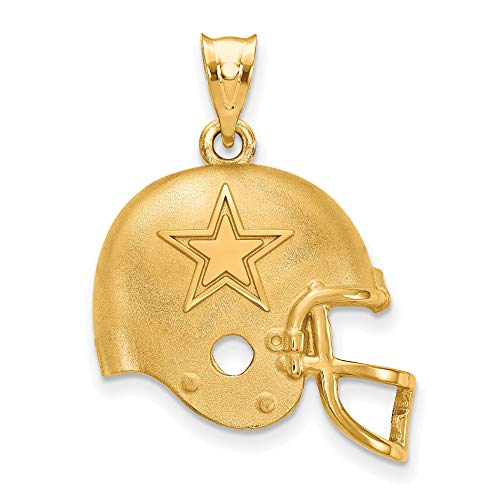 Kira Riley Gold Plated Dallas Cowboys Football Helmet Pendant (Genuine Mlb Necklace)