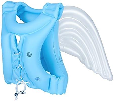 kickspark al aire libre infantil Floaties alas de ángel | Baby & Kids flotador | agua alas | bebé piscina Trainer | flotador, Small Blue 44 - 66lbs