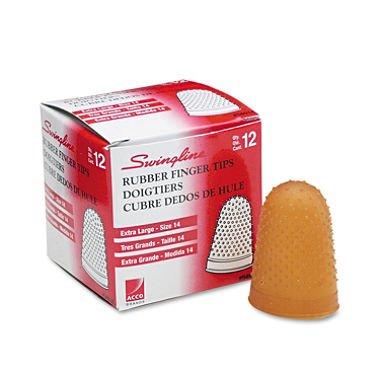 SWI54014 - Rubber Finger Tips - Swingline 54014 Rubber Finger