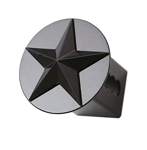 (Texas Lone Star 3d Black Emblem on Black Trailer Metal Hitch Cover Fits 2