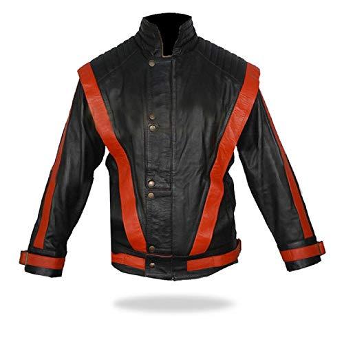 Men, Women Michael Jackson Mj Thriller Nappa Sheepskin Leather Multicolor Jacket-XL -