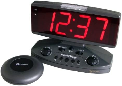 Sonic Alert Wake Up Call – Extra Loud Alarm Clock with Super Shaker
