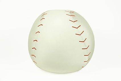 CAPRILO Peluche Infantil Decorativo Pelota de Beisbol Blanca Juguetes Infantiles. Muñecos para Bebés. Regalos