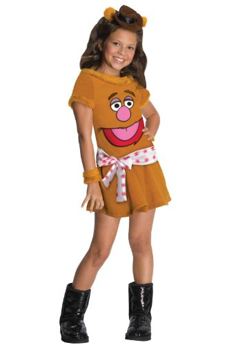 Rubies Costumes The Muppets Fozzie Girl Child Costume Brown Small (4-6)