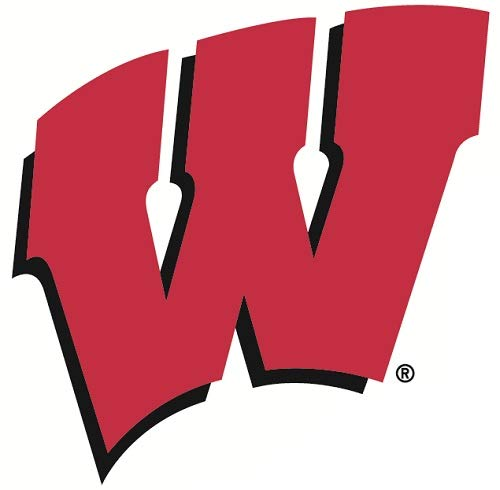 Wisconsin Badgers Ncaa Peel - 4 inch UW Red W Logo Decal University of Wisconsin Badgers WI Removable Wall Sticker Art NCAA Home Room Decor 4 by 4 inches