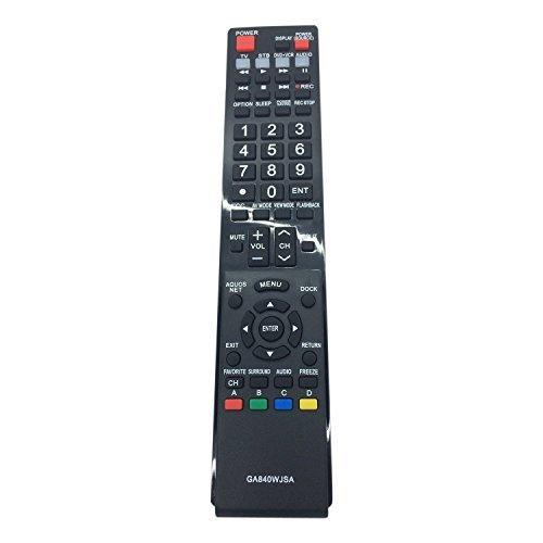 Generic Replaced Lost GA840WJSA LCD TV Remote Control Fit for Sharp Aquos (Lcd Tv Remote Control)