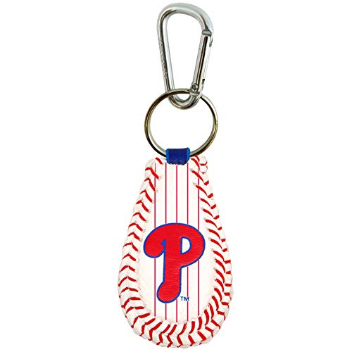 GameWear MLB Philadelphia Phillies Pinstripe Baseball Keychain, One Size, Black