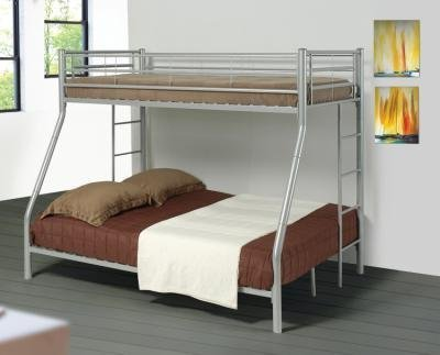 coaster-twin-full-bunk-bed-silver