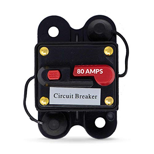 Five Oceans 80 Amp Anchor Windlass Circuit Breaker w/Manual Reset Button, 12V FO-3294 ()